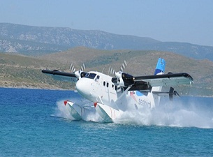 Deniz uçağı Bandırma'ya da kondu