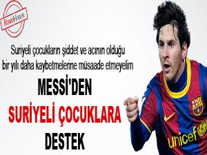 Messi'den Suriyeli çocuklara destek