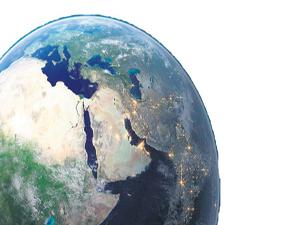 Yerin 402 km altında okyanuslar kadar su