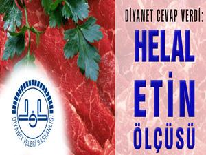 Diyanet'ten Yenilebilecek Helal Etin Ölçüsü
