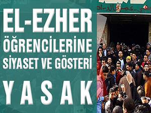 El-Ezher öğrencilerine siyaset yasağı