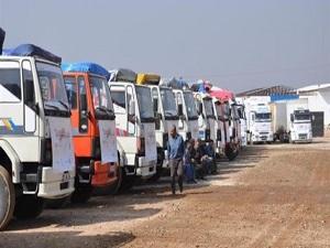 5 tır yardım malzemesi Suriye'ye gönderildi