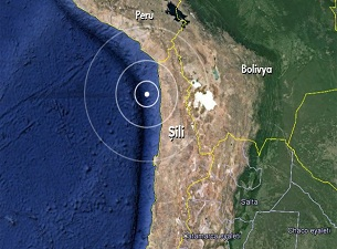 Şili'de 6,7 büyüklüğünde deprem
