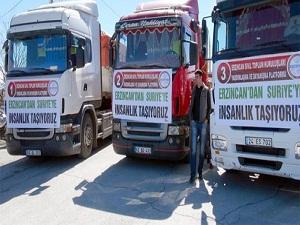 5 TIR Suriye'ye doğru yola çıktı