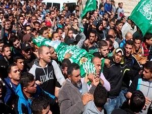 İsrail'in katlettiği üç Filistinli'nin cenazesi kaldırıldı