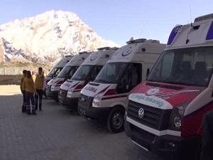 Sağlık Bakanlığından Hakkari'ye 5 Ambulans