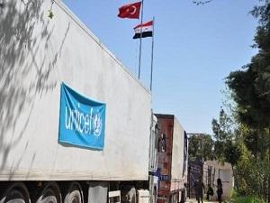 BM'nin yardım tırları da Suriye'ye geçti