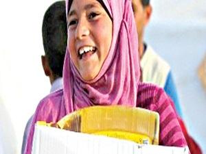 350 TIR'lık yardım mazlumları mutlu etti