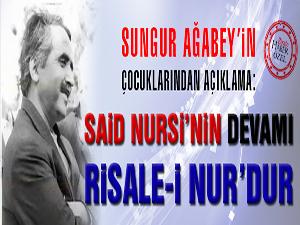 Said Nursi'nin devamı Risale-i Nur'dur