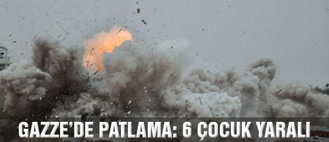 Gazze'de patlama: 6 çocuk yaralı