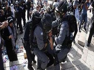 Filistinli göstericilere müdahale: 32 yaralı