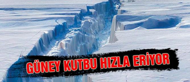 Güney Kutbu hızla eriyor