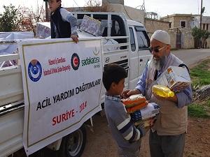 Suriye'ye 1 milyon TL'lik yardım