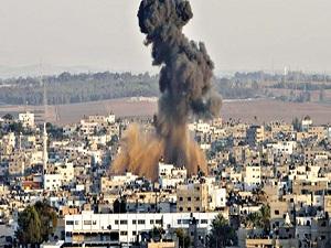 İşgalci İsrail, dün de Gazze'yi vurdu