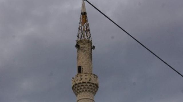 Kastamonu'da Camiye Düşen Yıldırım Korkuttu!