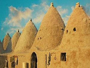 Harran'ın konik kubbuli evleri İtalya'da