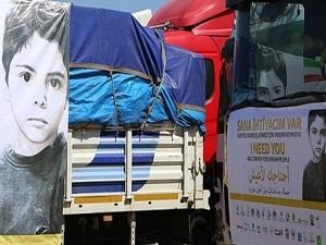 Suriye'ye yardımlar sürüyor