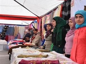 Suriyeli hanımlar kermes düzenledi