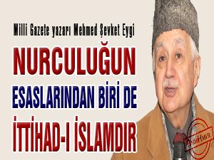 Nurculuğun esaslarından biri de İttihad-ı İslamdır