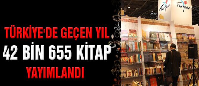 Türkiye'de geçen yıl 42 bin 655 kitap yayımlandı