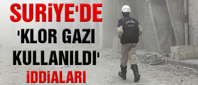 Suriye'de 'klor gazı kullanıldı' iddiaları