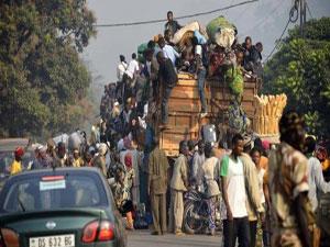 Bangui'deki Müslümanlar evlerini terkediyor