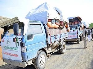 İHH'dan Afganistan'daki heyelan bölgesine yardım