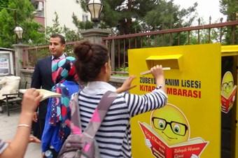 Köy çocukları yararına kitap kumbarası kuruldu