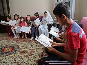 Suriyeli öksüzlerden Soma'ya Kur'an'lı destek