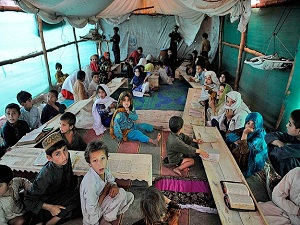 Peşaver'deki Jalozai mültecileri barış istiyor
