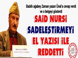 Said Nursi'nin sadeleştirmeyi reddeden el yazısı