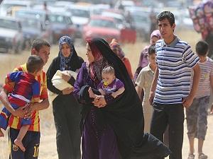 Musul'dan kaçan 150 bin kişi Erbil ve Duhok'a yöneldi