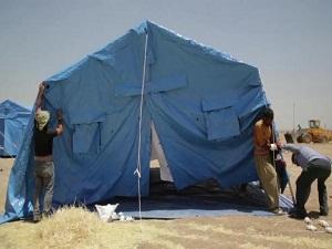 Musul'dan kaçanlar için çadırlar kurulmaya başlandı