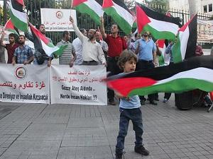 Beyoğlu'nda İsrail protestosu