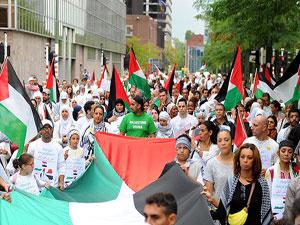 Brüksel'de Filistin için Beyaz Yürüyüş