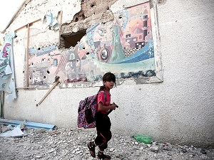 Gazze'de 22 okul tamamen yıkıldı