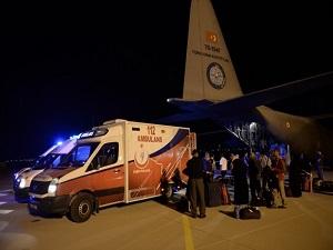 Gazzeli yaralılardan 8'i Ankara'da tedavi altına alındı