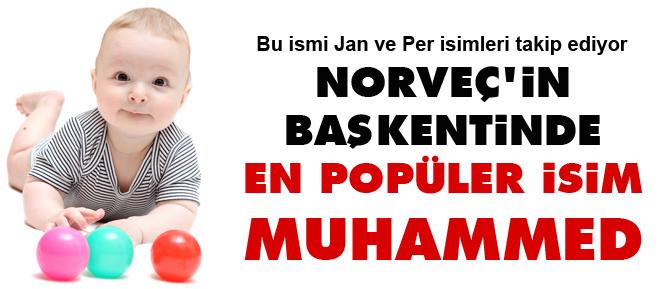 Norveçin başkentinden en popüler isim Muhammed