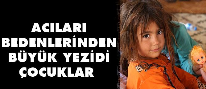 Acıları bedenlerinden büyük Yezidi çocuklar
