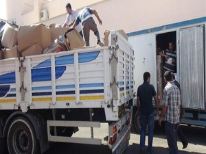 Kocaeli'den Irak'a yardım tırı