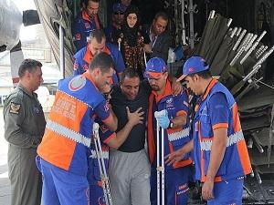 7 Filistinli yaralı ile refakatçileri ülkelerine döndü