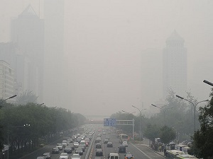 Çin'deki hava kirliliğinde turuncu alarma geçildi