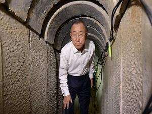 Ban Hamas tünellerini inceledi