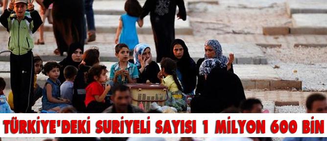 Türkiyedeki Suriyeli sayısı 1 milyon 600 bin