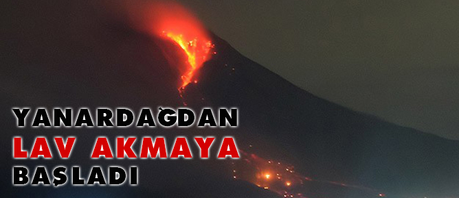 Sinabung Yanardağından lav akmaya başladı