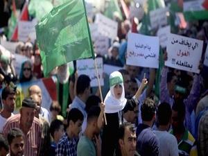 Tutuklu Filistinlilere destek gösterisi
