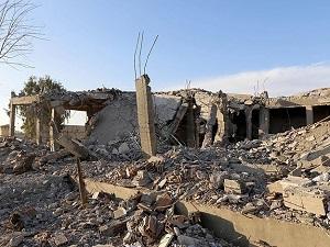 Rakka'daki Esed rejimi binaları bombalandı
