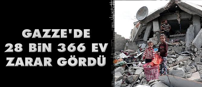 Gazzede 28 bin 366 ev zarar gördü