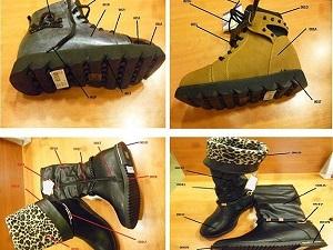 Tahlile gönderilen ayakkabılar Çin malı