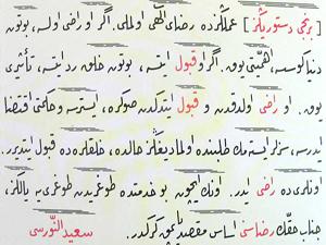 Üç ayda öğrendiği Osmanlıca ile Risale-i Nur yazdı